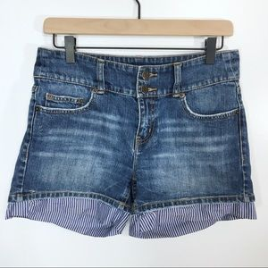 London Jeans Shorts with Fabric Detail, 4